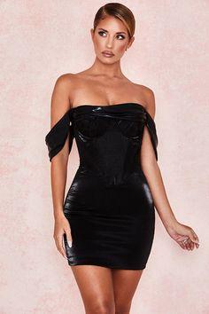 Black bodycon dress new look x ray sleeve plus