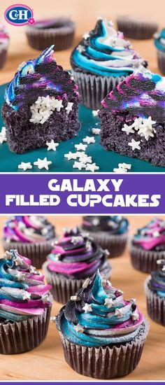 These cosmic cupcakes will take your taste buds to infinity and beyond! Delight in the starry surprises of galaxy-swirled frosting and sprinkle-filled middles.