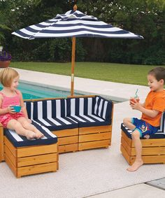 Stripe Outdoor Sectional Set