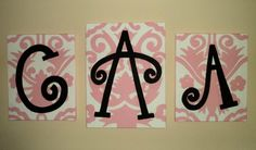 Monogrammed Canvas Painting
