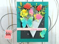 Hero Arts January Card Kit 2020 | Many Techniques & Cards – Jackie's Craft Table Distress Oxide Ink, Die Cut Cards, Heart Cards, Cards For Friends, Pretty Cards, Hero Arts, Card Kit, Sympathy Cards, Orange Flowers