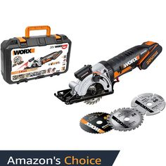 The Worx mini circular saw is cordless and compact. Multifunctional for cutting various materials. One of the best rated mini circular saws on the market. Mini Circular Saw, Circular Saw Reviews, Cordless Circular Saw, Electric Saw, Carpenter Work, Diy Workbench, Birthday Gifts For Husband, Diy Bench, Slim Body