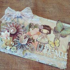 Shabby Chic altered envelope created by Bona Rivera-Tran.