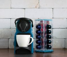Blue kitchen storage Nespresso Coffee Capsule Revolving Holder Stand Rack Decorative Stand usual prefer to put your capsules on display