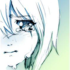 blush close-up face monochrome sad sketch tears yahako ❤ liked on Polyvore