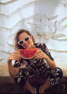 Retro zonnebril mango - eigenlijk in bruin - in de gaten houden