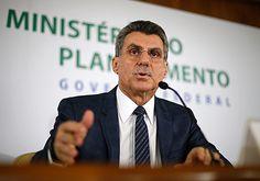 Brasilia, DF, Brasil, 23/05/2016: Ministro do Planejamento Romero Juca durante coletiva de imprensa no ministerio do planejamento. Foto: Pedro Ladeira/Folhapress