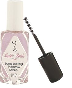 Long Lasting Eyebrow Sealer will hold natural brow or any brow make up. Just pick your favorite applicator. The mascara wand for your thicker fuller more natural brow, the brush for you gals with a finer penciled brow. Model in a Bottle Long Lasting Eyebrow Sealer won't dust, shine or flake. It is easily removed with warm water and your favorite cleanser. For use on eyebrows only.