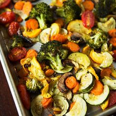 One of my favorite ways to eat and make vegetables. Roasted vegetables bring out sweet flavor notes of veggies.
