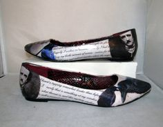 Edgar Allan Poe The Raven Poetry Flats  Made to by custombykylee, $50.00