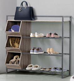Homestar 12 Pair Shoe Rack Warm Reclaimed Wood 4 Shelf Shoe Rack, Garage Shoe Rack, Shoe Shelves, Shoe Storage, Garage Storage, Wall Shelves, Storage Organization, Shoe Rack Walmart, Shoe Rack For Sale