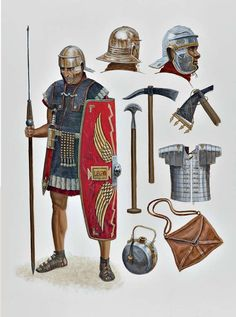 1st century CE Roman legionary and kit                                                                                                                                                                                 More