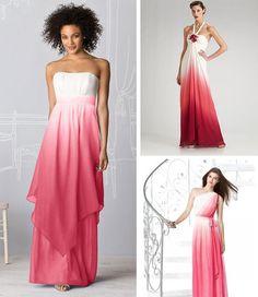 chiffon ombre bridesmaid dress | bridesmaid dress via Weddington Way , Badgley Mischka ombre chiffon ...