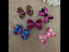 Laço boutique Xique-Xique _  Laço boutique 4 pontas ou duas pontas por cima  - YouTube