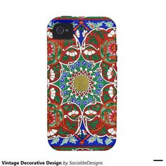 Vintage Decorative Design Case-Mate iPhone 4 Covers
