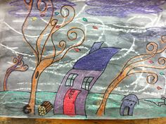Art at East, Union and more...: 2nd Grade Fall Windy Day Art