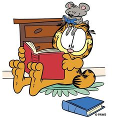 Reading and Summer just go together! | Garfield | Garfield The Cat | The Garfield Trail | The Garfield Trail in Grant County Indiana | Grant County Indiana | Marion Indiana | Fairmount Indiana | Gas City Indiana