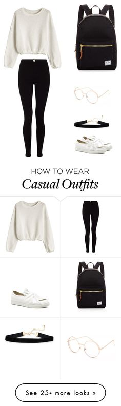 """Casual theme for fall"" by eunice-rain on Polyvore featuring Lipsy, Herschel Supply Co. and Full Tilt"