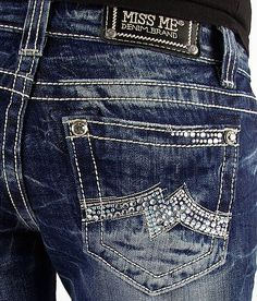 Miss Me Straight Stretch Jean #buckle #fashion #jeans www.buckle.com