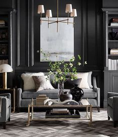 Novel Small Living Room Design and Decor Ideas that Aren't Cramped - Di Home Design Rugs In Living Room, Living Room Designs, Living Room Decor, Interior Decorating, Interior Design, Design Interiors, Modern Interiors, Classic Interior, Home Decor Inspiration