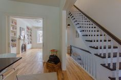 Clinton Hill Townhouse, Stair and LIving Room designed by AlexAllen Studio, shot by Andrew Kao
