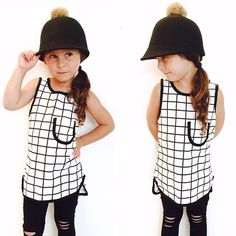 This. Just. Dropped. The Ride On Pom Cap paired with our Bring the Pane Tunic (now all she needs is a pony)