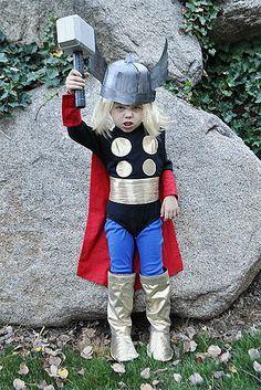 Disfraz casero para niños. Thor, dios del trueno. Así voy a disfrazar a Carlitos jajajaja