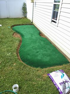 Lovely Putting Green Basement