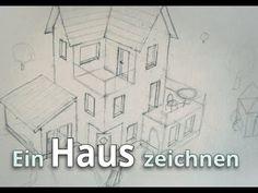 Ein Haus Zeichnen   Die Vorzeichnung   Das Würfelprinzip [Haus #02]    YouTube