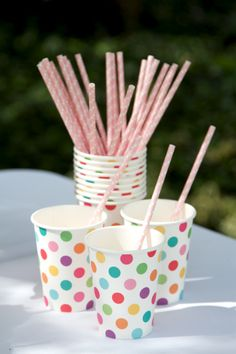 Polkadot hiPP cups are so colourful and cute!