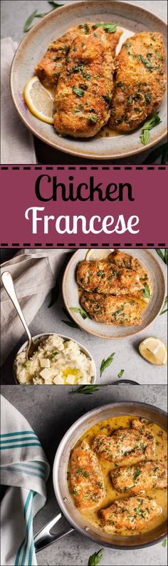 Tender chicken breast is coated in parmesan cheese and fried to golden…