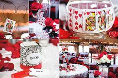 Alice in wonderland wedding reception details!