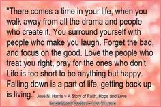 So True! Just wish I could walk away from the drama and people that create it, but then that would requirer walking away from our daughter