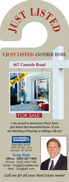 Real estate door hangers: the perfect cost effective tools for lead generation.