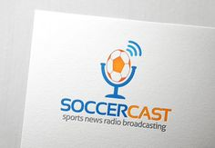 Soccer Cast Logo Templates Soccer Cast logo is best suited for sport radio station that broadcast football or any other related by Slim Studio Badge Template, Logo Design Template, Logo Templates, Business Brochure, Business Card Logo, Radio Websites, News Logo, Music Festival Logos, Soccer Logo