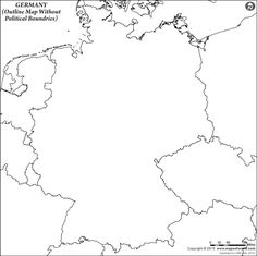Germany Outline Map Without Political Boundries