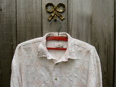 Vintage Shirt Boho Shirt Men Gift Embroidered Shirt  Shirt Romantic Dress Shirt Date Shirt Ethnic Shirt Bohemian Boho Shirt Hipster Shirt