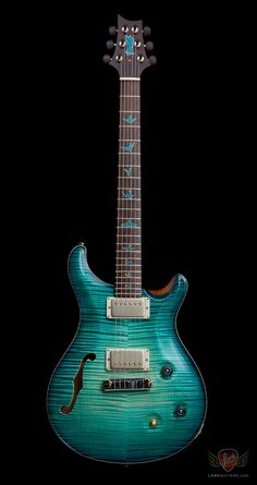 PRS Private Stock #5855 McCarty Semi-Hollow - Bahama Blue Glow Smoked