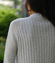 Ribbed open cardi, shoulder structure stuck out as interesting