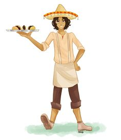 Everybody knows that Uncle Leo makes the best tacos in the world. Still haven't figured his proper look. Leo Valdez (c) Rick Riordan Leo's Percy And Annabeth, Annabeth Chase, Uncle Leo, Taco Man, Percy Jackson Books, Minor Character, Leo Valdez, Percabeth, Heroes Of Olympus