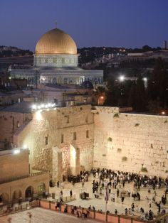 The Wailing Wall (Western Wall) and Dome of the Rock Mosque, Jerusalem, Israel | Posters & Prints of the holy land
