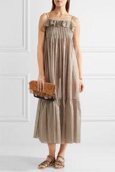 Three Graces London | Tybalt cotton-mousseline maxi dress | NET-A-PORTER.COM