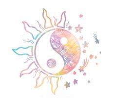 Sun and moon yin yang design Yen Yang, Ying Y Yang, Yin Yang Art, Ying Yang Tatuaje, Instagram Spacers, Theme Divider, Yin Yang Tattoos, Overlays Tumblr, Future Tattoos