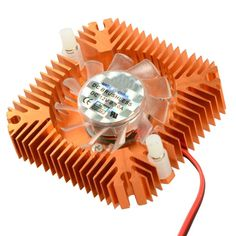 55mm 2 PIN Graphics Cards Cooling Fan Aluminum Gold Heatsink Cooler Fit For Personal Computer Components Fans Cooler