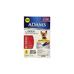 Adams Flea and Tick Control for Dogs, Medium Dogs lbs, Supply, Bonus Pack with Free Applicator Tick Control, Flea And Tick, Ticks, Fleas, Pet Supplies, Dogs, Pet Dogs, Pet Products, Doggies