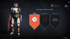 Destiny ps4 game | Select | Character | Class | #ui #interface #scifi #destiny #game
