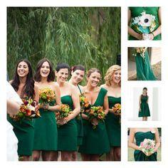 Robe demoiselle d'honneur vert émeraude