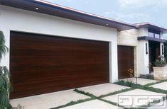 A Modern Garage Door Design in Irvine Terrace, Custom Crafted in Solid Mahogany! - modern - garage doors - orange county - by Dynamic Garage Door