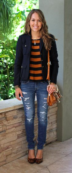 Love this jacket with the outfit. Looks so put together!