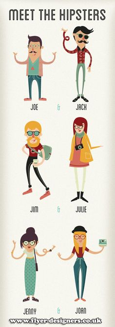 hipster vector graphics for use on flyer designs www.flyer-designers.co.uk #vectors #flyers #flyerdesign
